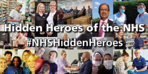 Hidden heroes of the NHS collage of images making a banner
